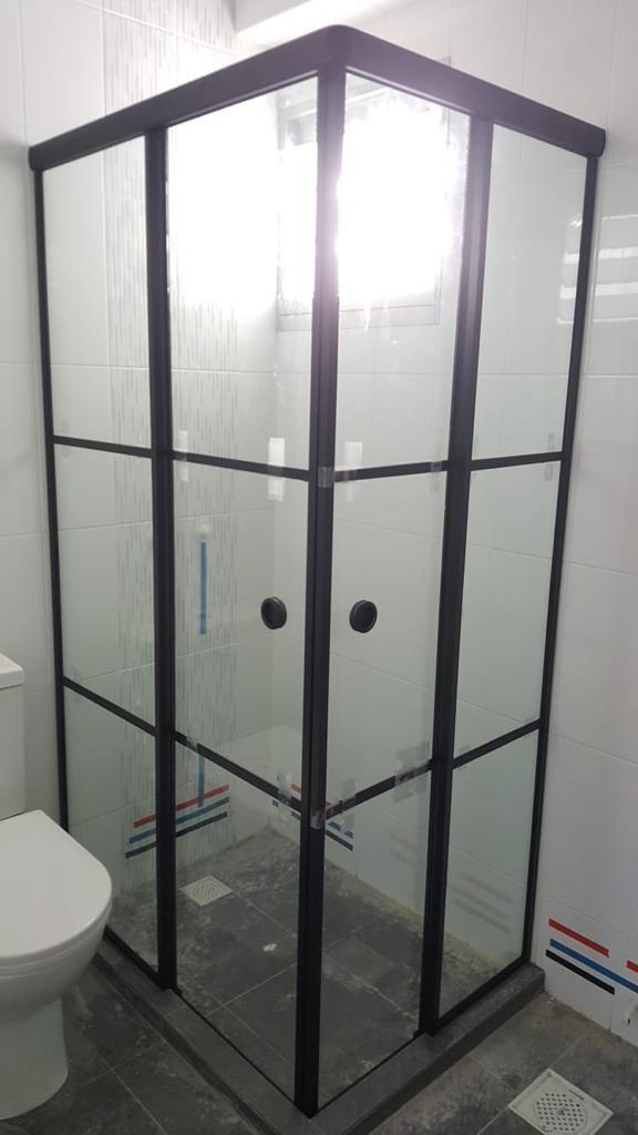 Black Frame Shower Screen