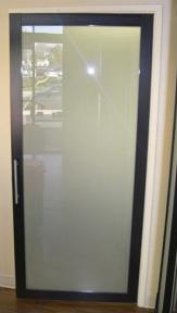 Frosted Glass Swing Door
