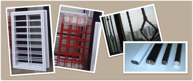 colours for aluminium grilles